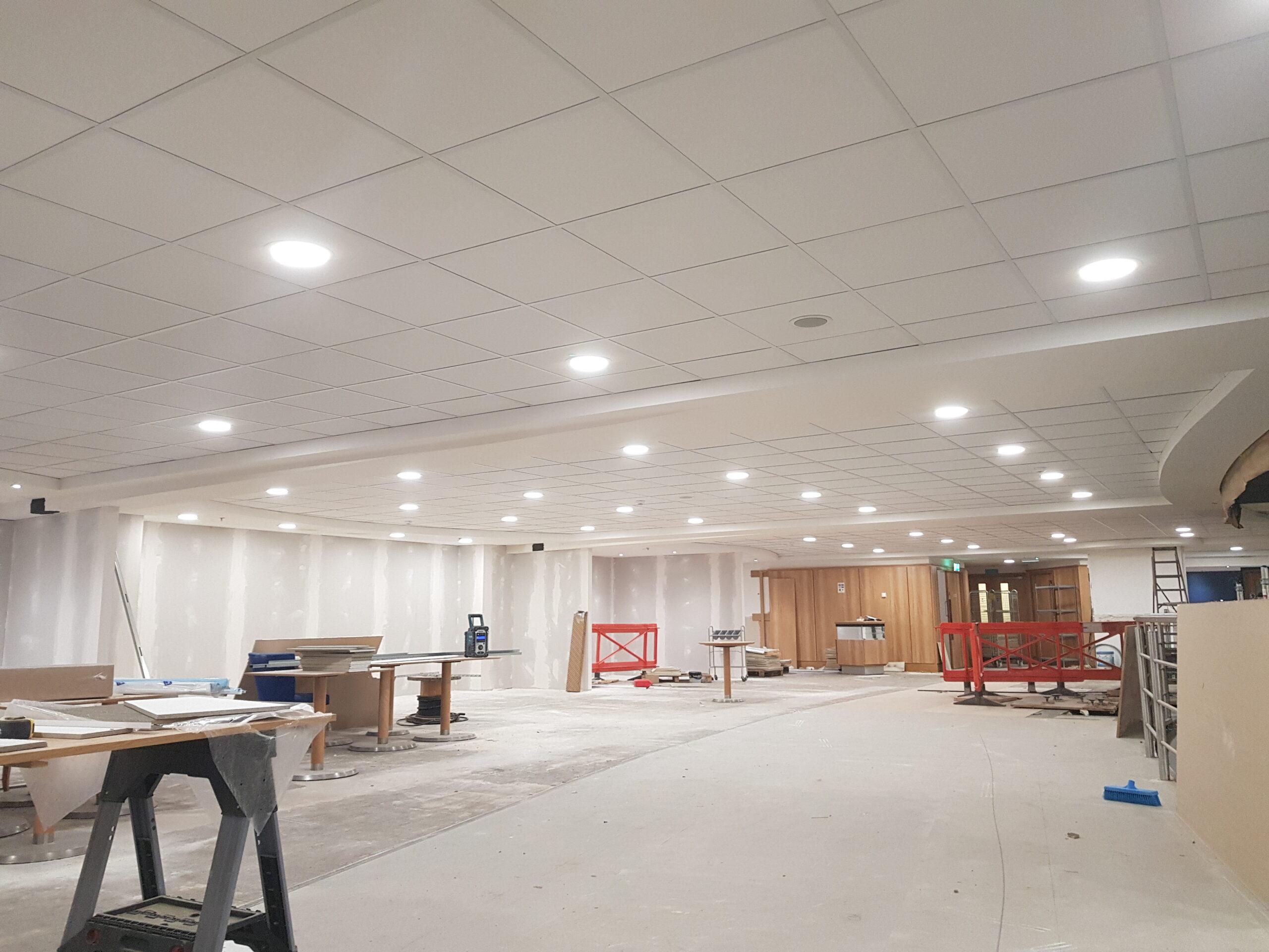 commercial suspended ceiling job in birmingham